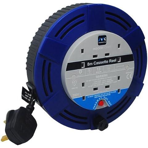 Masterplug MCT0813/4BL 8m 4 Socket 13 Amp