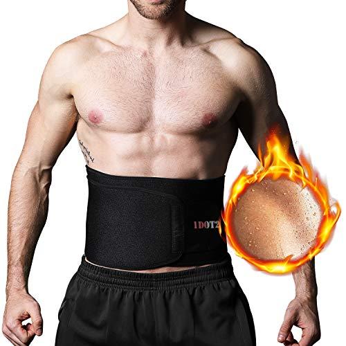 Bauchweggürtel Fitnessgürtel für Schnell & Einfach Abnehmen verstellbarer Sauna Bauchgürtel für Sport Schwitzgürtel für Bauch weg hot belt Slimmer Belt für Männer und Frauen, 114*19cm