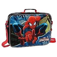 MARVEL Spiderman Set de Sac Scolaire, 38 cm, Bleu