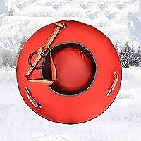 ZHAOK Trineo Hinchable de Nieve Tubo de Esquí Inflable con Manijas Snow Tube Juguetes de Nieve Invierno para Niños y Adultos Winter Fun Herramientas de Esquí 75 cm de diámetro,d