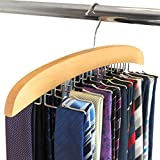 حامل منظم للتعليق الخشبي الفردي هانجر وورلد يحمل 24 ربطة فكرة هدية رائعة!