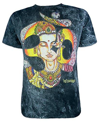 No Time Camiseta Hombre Aum Krishna Talla M L XL Mariposa Espíritu Hinduismo Budismo Yoga Ganesha (M, Negro)