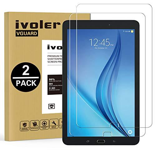 pellicola tablet samsung tab e iVoler [2 Pack] Vetro Temperato Compatibile con Samsung Galaxy Tab E/Tab E Nook 9.6 Pollici (SM-T560)