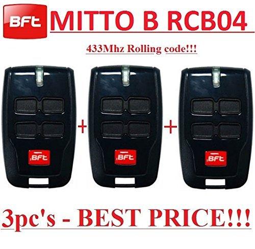 3-X-BFT-MITTO-B-RCB04-R1-Mando-a-distancia-de-4-canales-para-puerta-de-garaje-o-barrera-43392-MHz-rolling-code