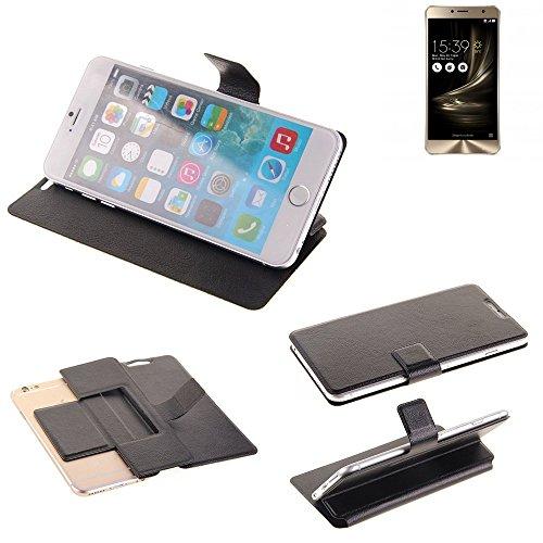 K-S-Trade Schutz Hülle für Asus ZenFone 3 Deluxe (ZS550KL) Schutzhülle Flip Cover Handy Wallet Case Slim Handyhülle bookstyle schwarz