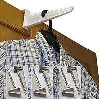 Over Door Plastic Ironing Hooks (Holds Up To 10 Hangers)
