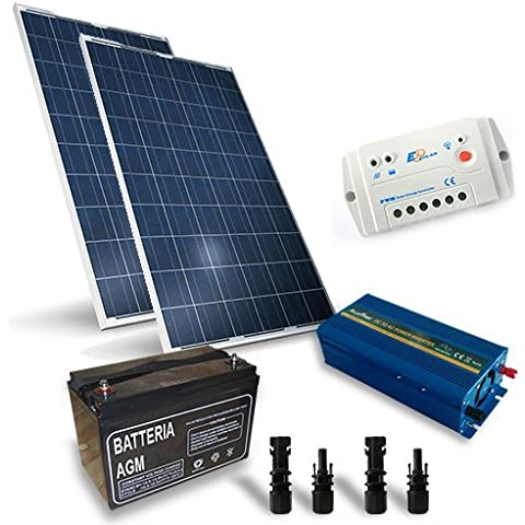Kit Solare Baita Pro 400W 12V Impianto Fotovoltaico Stand-Alone Isola