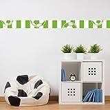 malango® Bordüre Fussball Fussballverein grün weiß Kinderzimmer Wanddekoration Sport Freizeit Hobby Fussballfan Verein Dekoration Bälle Set 2-6-teilig