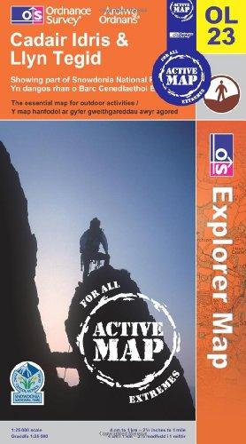 Cadair Idris and Bala Lake/Llyn Tegid (OS Explorer Map Active)