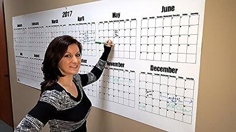 Dry Erase Wall Calendar- 2017 36