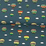 Stoffe Werning Baumwolljersey Heißluftballons & Wolken