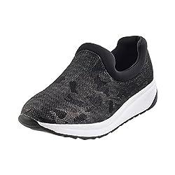 Metro Women Black Synthetic Walking Shoes (Size Euro39/Uk6) (36-8066-11-39-Black)