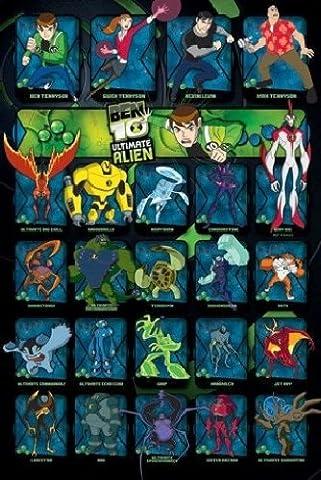 1art1 52899 Ben 10 - Ultimate Alien, Charaktere Poster 91 x 61 cm