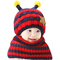 LA HAUTE Kids Adorable Bumble Bee Toddler Hat and Sacarf Set