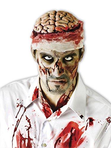 mbie Kopfbedeckung Hirn - Aus Kunststoff. Einheitsgröße für Erwachsene. (Zombie Gehirn Kopfbedeckung Erwachsene)
