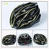 Bicycle helmet bicycle helmet mountain bike helmet integrated riding, black and green, one size