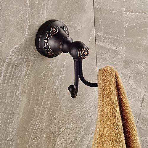 Ywqwdae Mit Öl eingeriebener Bronze-Badetuchhaken an der Wand befestigter Kleiderbügel (Farbe : Wie Gezeigt, Größe : Einheitsgröße)
