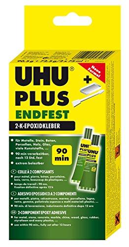 UHU 45720 Epoxidharzkleber, Plus Endfest, 2 Komponenten, 163 g Inhalt -