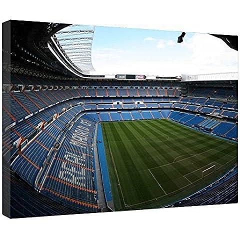 LeeQueen Las Impresiones Sobre Lona Arte de la Pared - Estadio Santiago Bernabéu - Antecedentes Consejo de Madera Estirada Abrigo de la Lona Listo Para Colgar Para el Hogar y la Decoración de la Oficina - 24