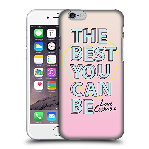 Official Cosmopolitan Mint Flowers Pastels Hard Back Case for Apple iPhone X Pink Slogan