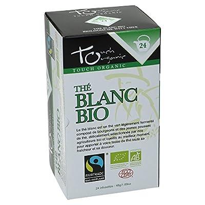 Touch organic Thé Blanc Bio 24 Sachets 48 g - Lot de 3