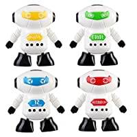 Yukong Robot Toy for Baby Kids,Clockwork Wind Up Running Robot Toy for Child Developmental Gift Puzzle Toys Robot Science Kit