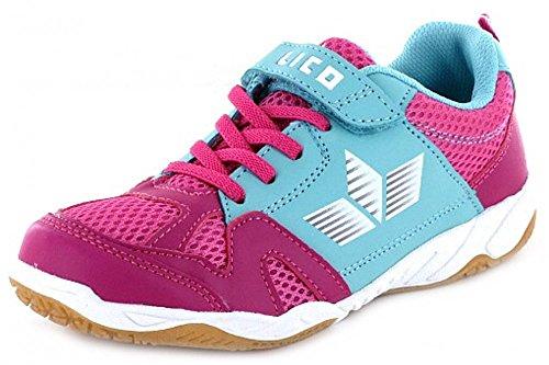 Lico  Hallenschuh, Chaussures spécial sport en salle pour fille rose bonbon