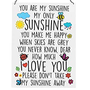 You Are My Sunshine Cute High Quality Wall Metal Sign Tin Retro Plaque Amazon Co Uk Kitchen Amp Home