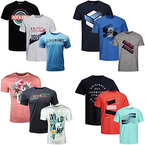 06 Tee (JACK & JONES Herren T-Shirt 3er Pack Rundhals O-Neck Tee Shirt Core S,M,L,XL,XXL NEU (M, 3er Paket 06))