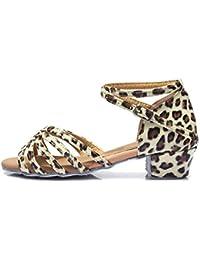 HROYL Zapatos de baile/Zapatos latinos de satín el beige Niñas E-202 EU 27