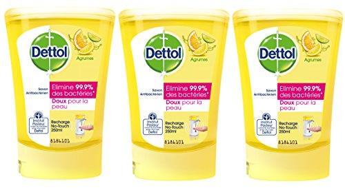Dettol Savon Recharge pour No Touch Agrumes 250 ml - Lot de 3