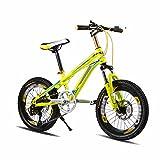 Kinderfahrräder DUO Kinder Fahrrad Mountainbike 18/20 Zoll Kind7-15 Jahre alt Junge Schüler Radfahren 18 Zoll 7 Geschwindigkeit/20 Zoll 21 Geschwindigkeit Variable Geschwindigkeit Dual-Disc-Bremse