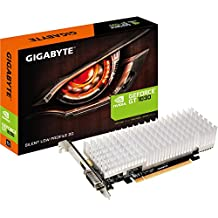 Gigabyte NVIDIA GeForce GT 1030 Silent Low Profile 2G GDDR5 64 Bit Memory PCI Express Graphics Card - Black