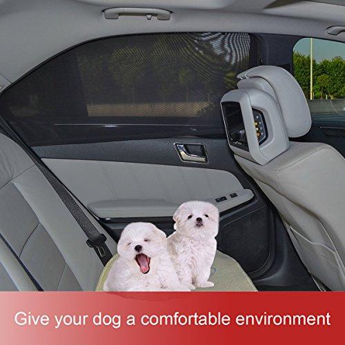Aodoor 1 Set (2 pièces) Nuances de fenêtre de voiture, Universelle pour voiture pare-soleil pour fenêtre latérale arrière Offre une protection UV maximale pour bébé, enfant, enfant et chien Vente