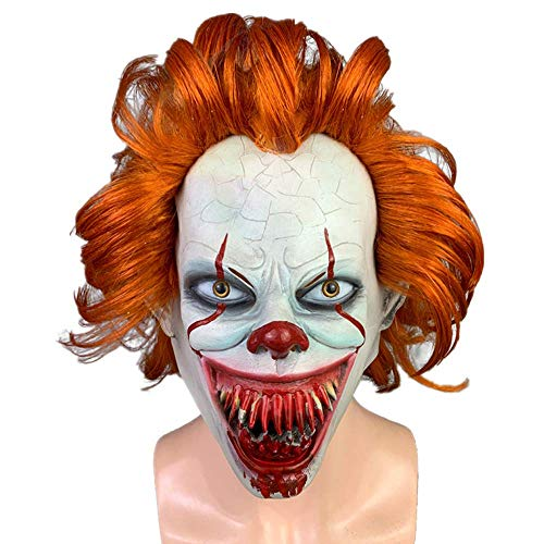 Kostüm Scary Verkauf Clown Zum - MU Maskerade Halloween Clown Droll Gruselig Scary Cosplay Kostüm Maske Latex Horror für Unisex Erwachsene Party Dekoration Requisiten Ghost Devil Dancing Kopfbedeckung