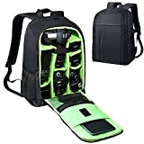 Estarer Waterproof DSLR Camera Backpack Laptop Bag 15.6 inch with Rain Cover,Tripod Holder,Large