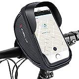 Fahrrad Handyhalterung, Fahrrad Lenkertasche Fahrradtaschen Rahmentaschen Wasserdicht Handyhalter Fahrrad Tasche Fahrradlenkertasche für bis zu 6.0 Zoll Smartphone, Neue verbesserte Edition, für alle Fahrradtypen geeignet, Farhradlenkertasche Fahrradtasche Lenker