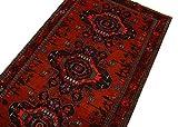 Zelkova Tapis Azerbaijan 207x 121cm 100% coton main geknüpft Rouge