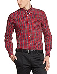 Merc of London 1509214325 - Camisa casual de manga larga para hombre