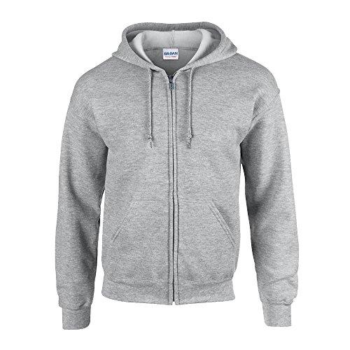 Gildan - Kapuzen Sweat-Jacke 'Heavyweight Full Zip' XL,Sport Grey Full Zip Sweat