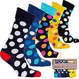 c8f291a42eafc socks n socks-Calzini da Uomo a 5 Paia di Cotone Lusso Divertimento  Elegante Fantasia