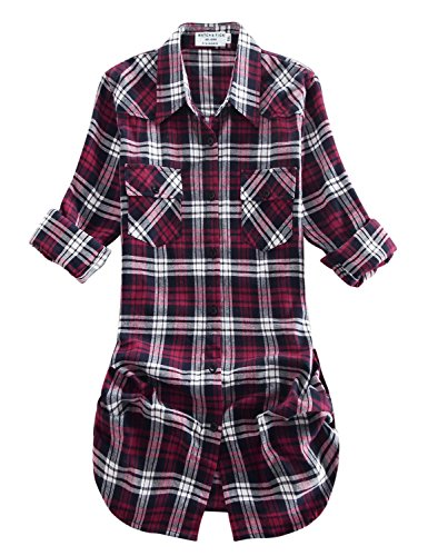 Match Damen Flanell Kariert Shirt #B003(2021 Checks#20,X-Small(Fit 31''-33''))