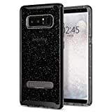 spigen Funda Galaxy Note 8, [Crystal Hybrid Glitter] Water-Mark Libre TPU y Kickstand de Metal magnético para Galaxy Note 8 (2017) [Space Quartz]