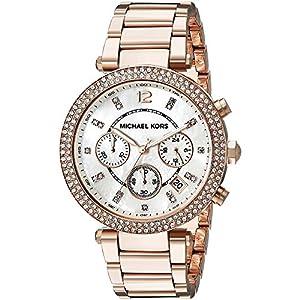 Michael Kors MK5491 - Reloj para mujeres, correa de acero inoxidable color oro rosa de Michael Kors