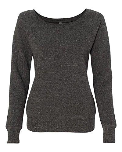 Bella+Canvas: Sponge Fleece Wideneck Sweatshirt 7501 Charcoal Triblend