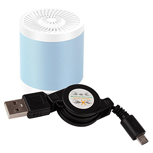 DURAGADGET Cable MicroUSB Para Altavoz Portátil WanEway Q2 / Whitelabel Mini Tough / Wiko WiSHAKE / XTRA e-FUSION 102-MB-BL / Yokkao Multifunctional Bluetooth / ZEALOT S5 mini / ZENBRE F3 -Retráctil