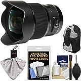 Sigma 20mm F/1.4 Art DG HSM Lens For Canon EOS Digital SLR Cameras With Backpack + Kit