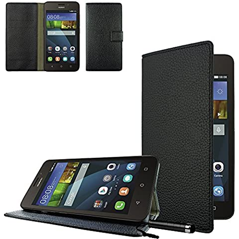 Ownstyle4you cobertura side case con funcion de stand para Huawei Ascend Y635 incl. Protector de Pantalla y Touchpen