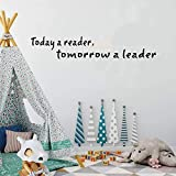 stickers muraux enfants disney Today A Reader Tomorrow A Leader For Reading Room Library Bookstore home decor