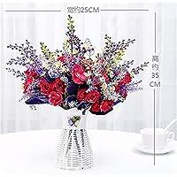 Fiore Di Emulazione Rose Chuan Fiore Fiori Artificiali In Camera Decorata Sala Con 4 Bastoni Nel Fascio + B Cesti Di Fiori
